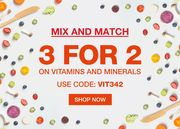 3 for 2 on Vitamins and Minerals