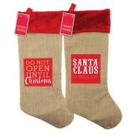 The Spirit of Christmas Hessian Stocking