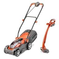 ALMOST 1/2 PRICE. Flymo Mighti-Mo Cordless Battery Lawn Mower & Mighti-Trim