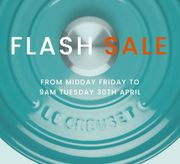 LE CREUSET - Flash Online Sale   Starts Midday Today!