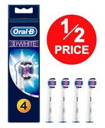 1/2 PRICE at AMAZON: Oral-B 3D White Replacement Toothbrush Heads 4 PACK