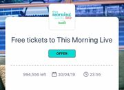 Free Tickets to This Morning Live (WUNTU APP and THREE Customers Only)
