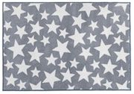 Kit for Kids Nursery Rug, Grey with White Stars