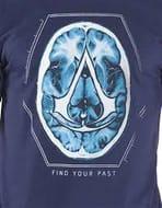 ASSASSINS CREED Find Your past Brain Crest T-Shirt - XL, Navy