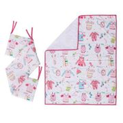 Kiddicare Little Favourites Cot and Cotbed Coverlet and Bumper Set