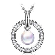 Swarovski Princess Nina Guardian of Love 925 Sterling Silver Necklace