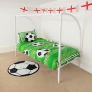 Bargain! Save £110! Kids Football Goal Single Bed Frame at Ebay