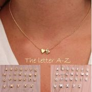 Alphabet Pendant and Chain