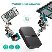 RAVPower FileHub, Wireless Travel Router AC750, Portable SD Card