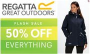 FLASH SALE! 50% off EVERYTHING at Regatta