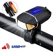 USB Rechargeable Bike Lights Front and Back - Save £7 with Code