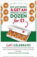 Buy Any Krispy Kreme Dozen and Get an Original Glazed Dozen for £1 This Weekend