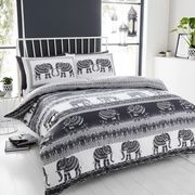 Elephant Bedding King Size | Grey, Charcoal
