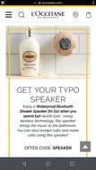 Typo Shower Speaker Half Price When You Spend £40
