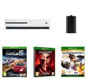 Xbox One S, Tekken 7, Overwatch, Project Cars 2 & Charge Kit Bundle