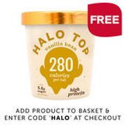 Free Halo Ice Cream Tub with Online Shop £28.50+