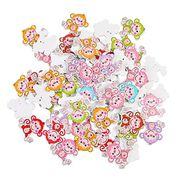 50Pcs Mixed Color 2 Holes Monkey Buttons FREE DELIVERY