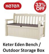 Amazon Deal of the Day: Keter Eden Garden Bench / Storage Box
