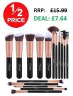 1/2 PRICE! BESTOPE Professional 16-Piece Makeup Brush Set *4.6 STARS*