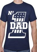 Dad Gifts No1 Dad T-Shirt Navy