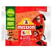 Mission Kids Disney Kitchen Tomato Ketchup Flavour Wraps 6 per Pack