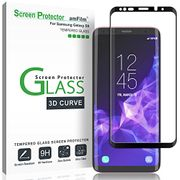 Galaxy S9 Screen Protector Glass, amFilm Full Cover