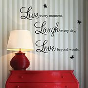 Live, Laugh, Love Wall Art Quote Transfer