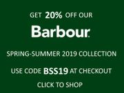 Get 20% off Our Barbour Spring-Summer 2019 Collection