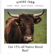 Get 15% off Native Breed Beef