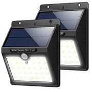 Trswyop Solar Lights Outdoor [Pack of 2] 33 LED Super Bright Solar Lights