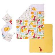 Kiddicare Scrapbook Safari Cot and Cotbed Set