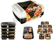 10 Pack Ready Meal Prep 3 Compartment Food Containers Lids Lunch Box Stackable