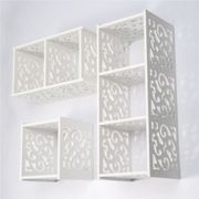 White Cube WPC Wooden Wall Cube Floating Shelf Display Storage Unit Cubes Shelve