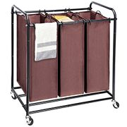 Laundry Sorter, Wheeled Trolley Cart