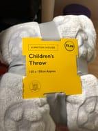 Bargain Childrens Soft Throw/blanket