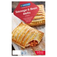 Greggs 2 Sausage & Bean Melts 308g 3 Packs for £3