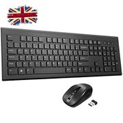 Wireless Keyboard and Mouse Set,Chiclet Design,