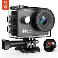 DBPOWER 4K Wi-Fi Action Camera, Ultra-HD 12MP Waterproof Sports Camera
