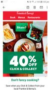 40% off Click & Collect at Frankie & Bennys