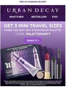 Free Trio of Travel Size Products Wyb ANY Pallette (Free Postage Too)