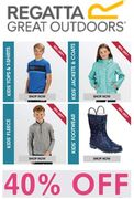 40% OFF EVERYTHING FOR KIDS at REGATTA - Wellies, Jackets, Fleeces - THE LOT!