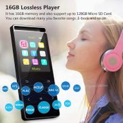 MP3 Player, 16GB Mp3 Player with Bluetooth 4.2, Support TWS Earbuds