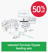 Baby Feeding Deals - 50% off Tommee Tippee at MOTHERCARE