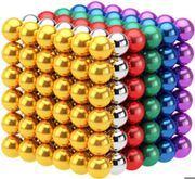 216Pcs 3mm Magnets Puzzle Toy - Multi Coloured