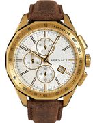 VERSACE Brown Leather Analogue Watch