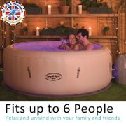 SAVE £150! Lay-Z-Spa Paris Hot Tub, LED Lights, AirJet Inflatable Spa 4-6 Person