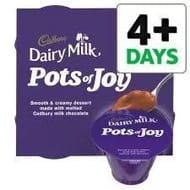 Cadbury Dairy Milk Pots of Joy Chocolate Dessert 4 X 70g