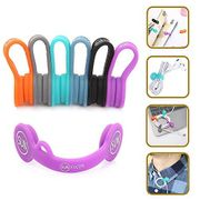 Magnetic Clips Headphone Cable Organiser Earbuds Cord Winder Manager