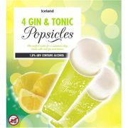 Iceland 4 Gin & Tonic Popsicles 264ml