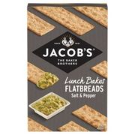 Jacob's flatbreads salt & cracked black pepper150g Only £1.85